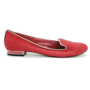 Dolce Vita red calf hair slip on loafers SZ 7.5
